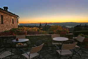 Sunset View from the Terrace of Villa Marciano