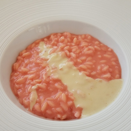 Risotto with Beetroot and Pecatini