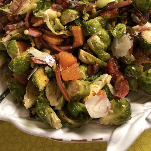 Roasted Brussels Sprout Salad