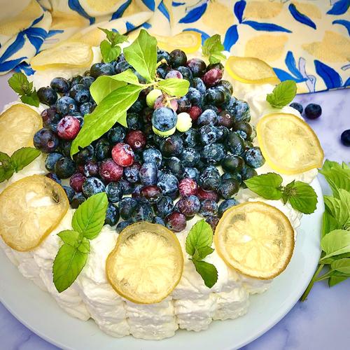 Blueberry Limoncello Cassata Cake