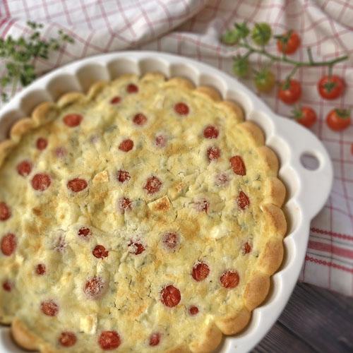 Cherry Tomato & Brie Clafoutis