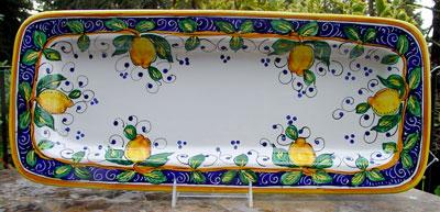 Limone Alcantara Tray
