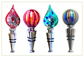 Murano Glass Wine Stoppers from Venice