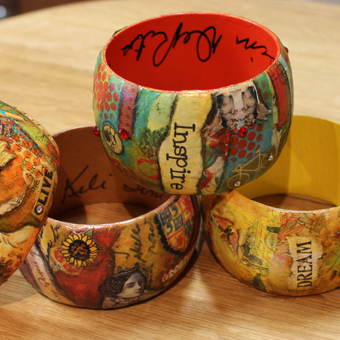Mixed Media Bracelet Class - Dec. 20, 6-9pm